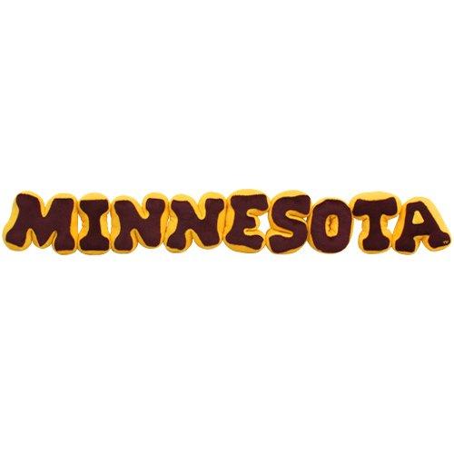 (NCAA Minnesota Golden Gophers Maroon-Gold Plush Spirit Name Pillow)