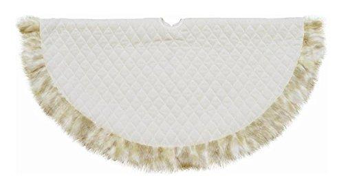 """NORTHLIGHT 48"""" Quilted Cream Velvet Christmas Tree Skirt ..."""