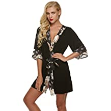 Ekouaer Robe Womens Kimono Bathrobes Lightweight Viscose Loungerwear Short (XS-XL)