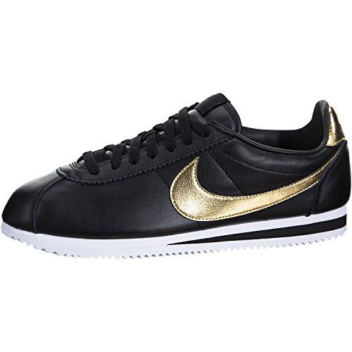 f0c74d5341010d ... Galleon - NIKE Classic Cortez SE XLV 902801-002 BlackGoldWhite Mens  Leather Shoes (10 ...