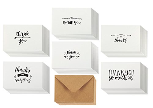 Assorted Pack Thank Note Cards product image