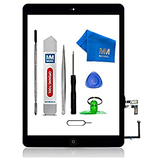 MMOBIEL Pack of 5 Digitizer Repair Kit Compatible with iPad Air (White) 9.7 Inch Touchscreen Front Display Incl Tool kit
