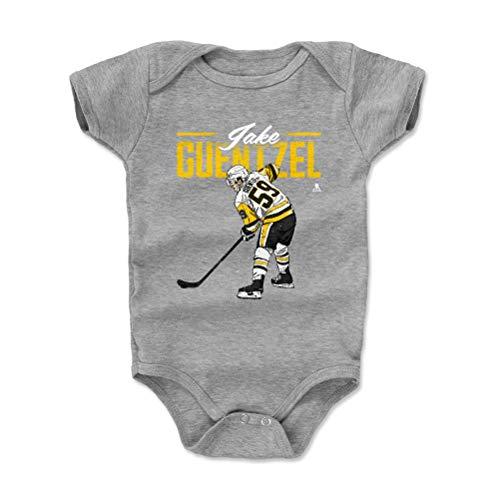 500 LEVEL Jake Guentzel Pittsburgh Penguins Baby Clothes, Onesie, Creeper, Bodysuit (18-24 Months, Heather Gray) - Jake Guentzel Retro Y WHT