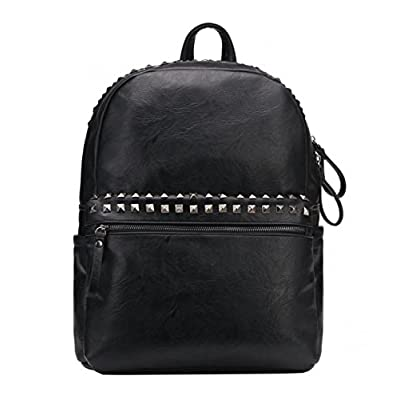 c965784dae Punk Style Faux Leather Backpack Studded Travel Backpack School Bag For  College well-wreapped