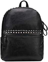 Punk Style Faux Leather Backpack Studded Travel Backpack School Bag For College