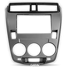 Carav 11-669 Double Din Audio Car Stereo Dash Installation Kit Stereo Dash Install Kit DVD Dash Installation Surrounded Trim Kit for HONDA City Ballade Manual Air with 17398mm 178100mm 178102mm