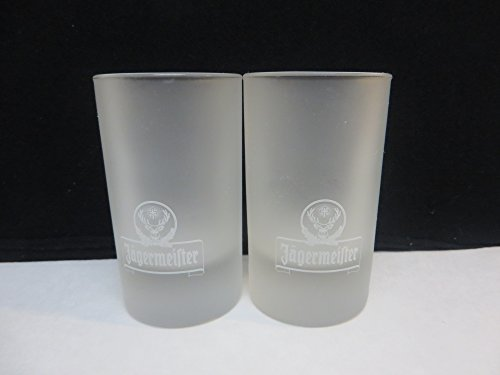Set of 2 Jagermeister Stag Logo Frosted 4cl Shooter Double S