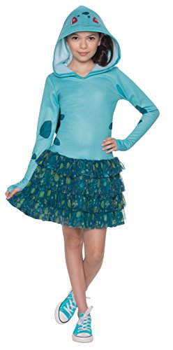 Rubie's Costume Pokemon Bulbasaur Child Hooded Costume Dress