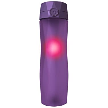 Hidrate Spark 2.0 Smart Water Bottle (Black) - Tracks Water Intake & Glows to Remind You to Stay Hydrated