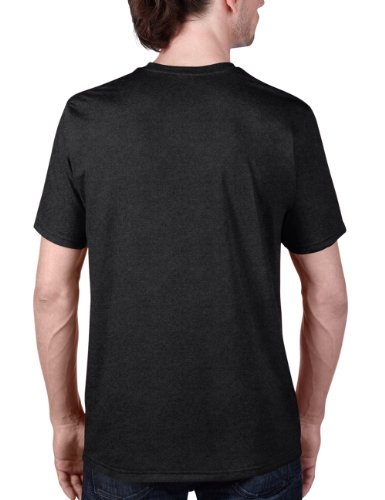 Anvil - Camiseta con cuello redondo de manga corta para hombre Negro (Hbc Heather Black)