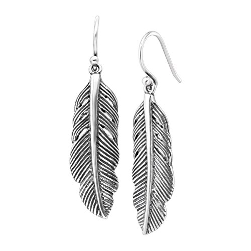 Silpada 'Etched Feather' Drop Earrings in Sterling Silver (Earrings Hoop Etched Gold 14k)