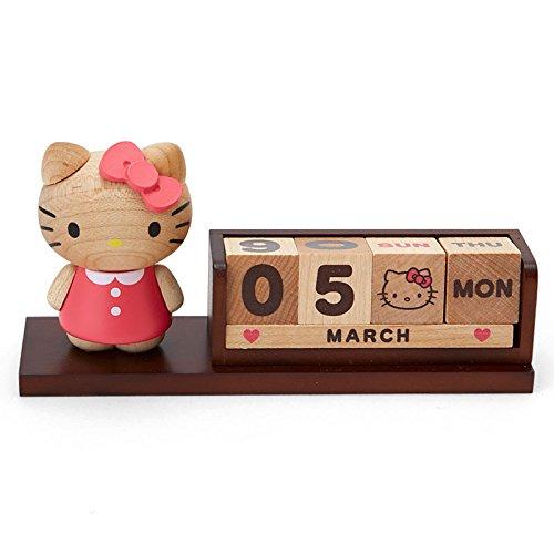 2016 Sanrio Hello Kitty Wooden Block Perpetual Desk Calendar Office - Calendars Desk Shop
