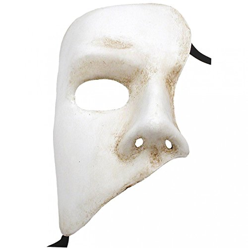 White Phantom Of The Opera Fantasma dell Opera Masquerade Mask ()