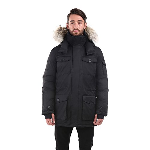 Triple F.A.T. Goose SAGA Collection | Eldridge Mens Parka Jacket (Small, Black) (Canadian Goose Clothing)