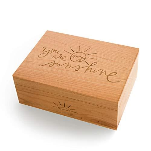 - You Are My Sunshine Laser Cut Wood Keepsake Box (Wedding or Anniversary/Love/Baby Shower Gift/Memory Box/Heirloom/Decorative/Handmade)