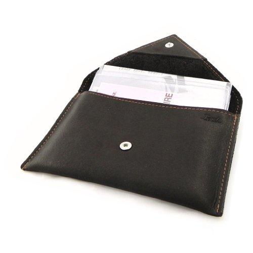 economico per lo sconto 7eb86 fdb49 Porta documenti in pelle per auto 'Frandi' marrone (slim ...