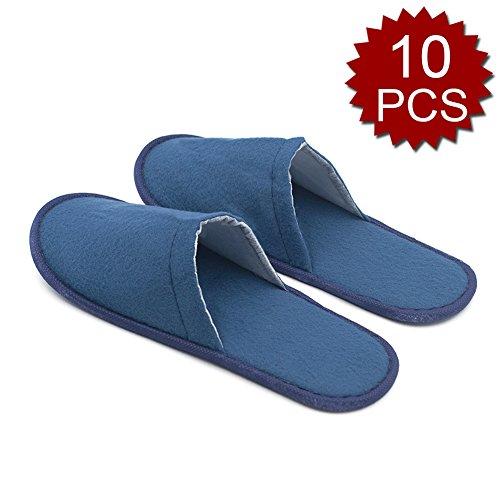 Opromo , Damen Hausschuhe 10PCS-Blue