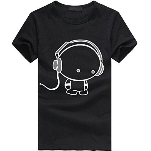 Vestiti Cotone Uomini T shirt Ragazzo Nuovi A Nero Corte Elecenty Maniche Camicia S1wvqTxx