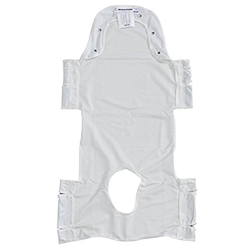 Drive Medical 13231p Patient Lift Sling with Head Support and Commode Opening Insert Pocket, Gray
