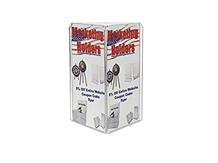Amazoncom Marketing Holders Sided Acrylic X Table Tent - 3 sided table tents