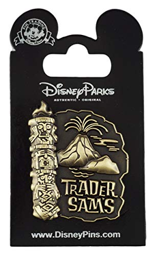 (WDW Trading Pin - Trader Sam's - Tiki with Volcano)