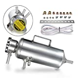 Dromedary Aluminum Universal Polished Chrome JDM Air Round Catch Cooler Radiator Breather Tank Engine Coolant Can