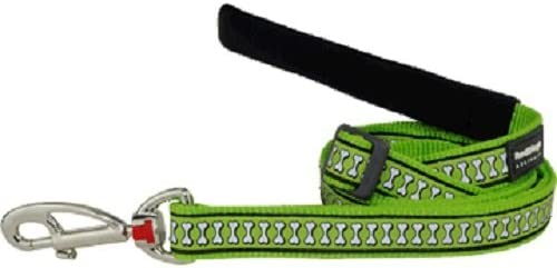 Red Dingo Leash Reflective Green