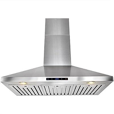 "FIREBIRD 36"" Powerful Stainless Steel Wall Mount Kitchen Cooking Fan Range Hood Touch Control Panel"