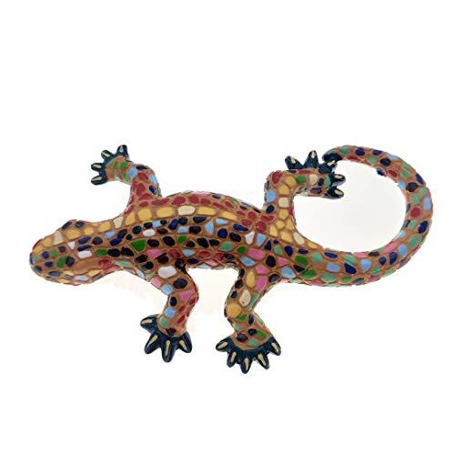 (Spain Magnet Souvenirs Mosaic lizard Park Guell Barcelona 3D Refrigerator Fridge Magnets Souvenir Sticker Kitchen Resin)
