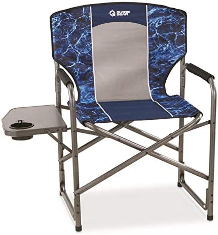 Guide Gear Oversized Director s Camping Chair, 500-lb. Capacity, Mossy Oak Elements Agua
