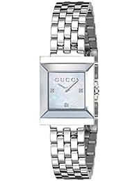 Frame Timeless Modern Square Shape Stainless Steel Dress Women's Watch(Model:YA128401)