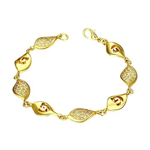 KnSam Copper Charm Bracelets Teardrop Gold [Novelty - Necklaces Neoprene Clasp Sterling Silver