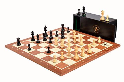 Chess Ebonized (The House of Staunton The Library Grandmaster Chess Set, Box, and Board Combination - Ebonized Boxwood and Natural Boxwood)