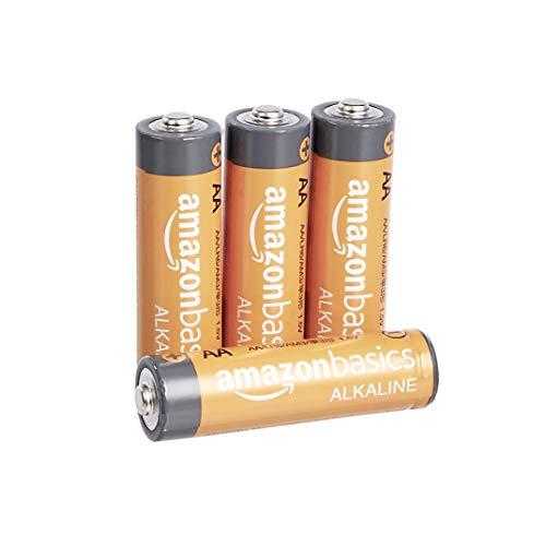 🥇 AmazonBasics 4-Count AA High-Performance Alkaline Batteries