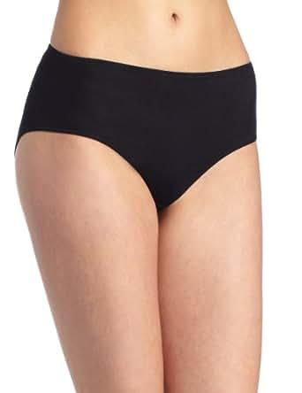 Hanro Women's Everyday Cotton Mid Rise Brief Panty, Black, X-Small
