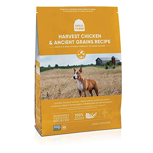 Open Farm Ancient Grains Dry Dog Food, Humanely Raised Meat Recipe with Wholesome Grains and No Artificial Flavors or…