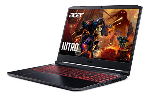 "Acer Nitro 5 Gaming Laptop, 10th Gen Intel Core i5-10300H,NVIDIA GeForce GTX 1650 Ti, 15.6"" Full HD IPS 144Hz Display, 8GB DDR4,256GB NVMe SSD,WiFi 6, DTS X Ultra,Backlit Keyboard,AN515-55-59KS"