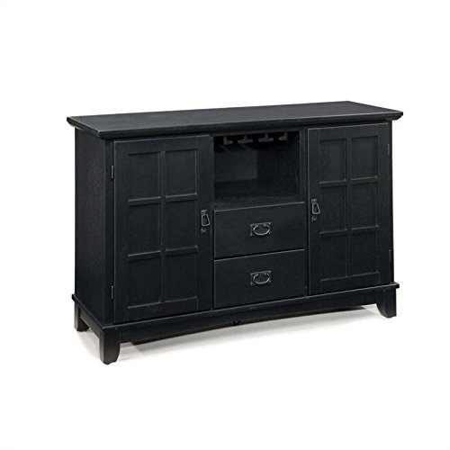 rts and Crafts Dining Buffet, Black Finish ()