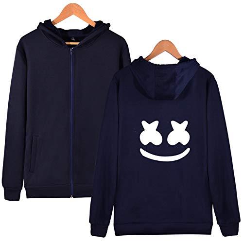 Hoodie Invierno Seraphy Top Marshmello Fashion Mujer Electroacoustic Con Sudadera Sweatshirt Primavera Sport azul hop Cremallera 3408 Hip Otoño YrBYPw