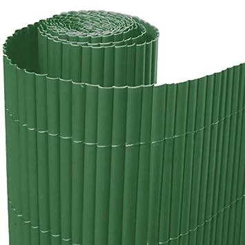 arelle in stuoia canna bamboo arella pvc singola verde recinzione ... - Recinzioni Da Giardino In Pvc