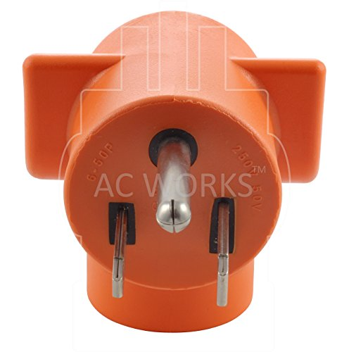 AC WORKS [AD650L630] Welder 6-50P Plug to L6-30R 3-Prong 30 Amp 250 Volt Locking Female Adapter by AC WORKS (Image #6)