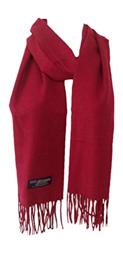 Memory Wear 100% Cashmere Plain Style Scarf, Super Soft - Burgendy