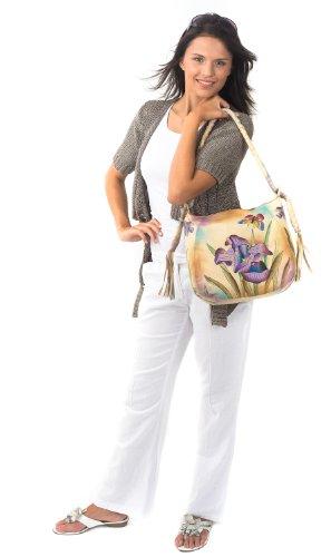 ZIMBELMANN Cross-body väska - Lili Liv - äkta Nappa läder 32,5 x 29,0 x 13,97 cm flerfärgad handmålad handväska axelväska