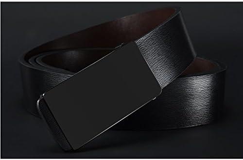 ベルト メンズ 革 ビジネス カジュアル 本革 オートロック 自動バックル 穴なし 紳士 サイズ調整 おしゃれ LQJZN-03