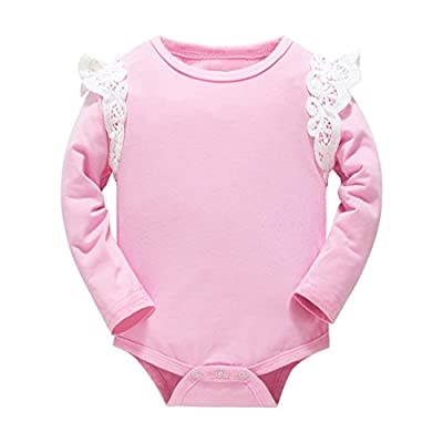 Huata Baby Girls Boys Long Sleeve Onesies Bodysuit Baby Romper