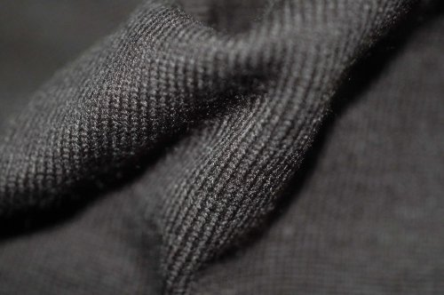 Neotrims Plain Solid Knit Rib Stretch Jersey Craft Fabric Material By The Yard. Limited Edition in Kiwi Green, Brown, Olive, Black, Dark Grey, Denim Blue. Beautiful Plain Colours in Basic - Fabric Brown Knit