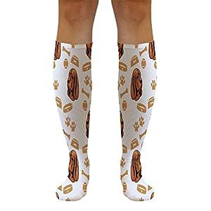 Funny Knee High Socks Sussex Spaniel Dog Polyester Tube Socks Women & Men 1 Size 33