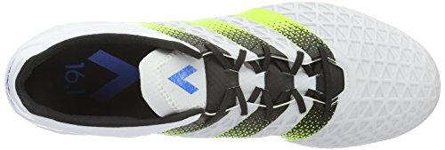 adidas Ace 16.1 Fg/Ag, Botas de Fútbol para Hombre Blanco (Ftwr White/Semi Solar Slime/Shock Blue)