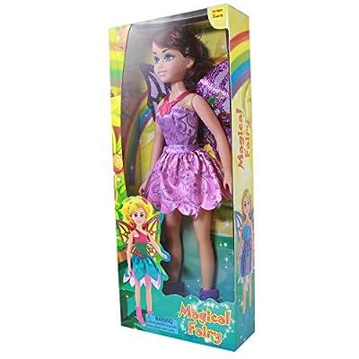 TychoTyke Girls Magical Fairy Princess Jumbo Doll Purple Dress: Toys & Games