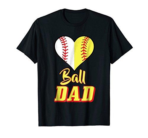 Mens Softball Baseball Dad T-Shirt Sport Father Shirt Gift Idea